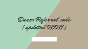 Dunzo Referral code
